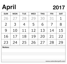 april 2017 calendar template print blank april calendar pdf