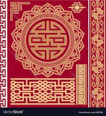 oriental design set of oriental design elements royalty free vector image