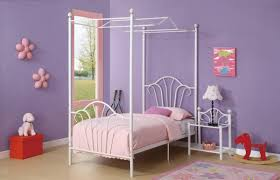 princess canopy beds for girls new twin size white frame metal princess canopy bed set includes