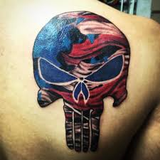 american flag punisher skull tattoo pictures to pin on pinterest