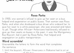 2nd grade black history month worksheets u0026 free printables