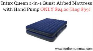 intex queen 2 in 1 guest airbed mattress with hand pump only