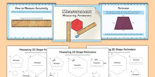 measuring the perimeter of d shapes powerpoint task setter and