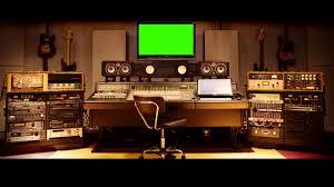 music studio music studio big screen green screen royalty free footage