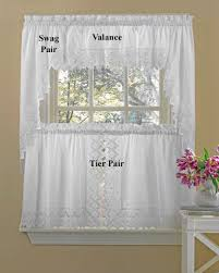 Kitchen Curtains Nouveau Embroidered Tier Curtains