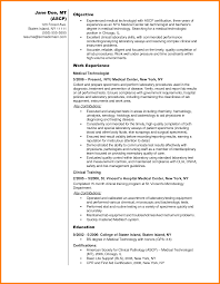 Mri Technologist Resume Medical Technologist Resume Free Resume Example And Writing Download