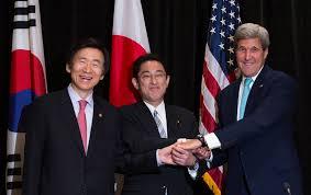 japan u s south korea discuss coordinated response to north