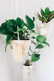 diy hanging woven planter the shift creative diy hanging woven