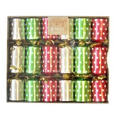 christmas crackers polka dot mini christmas crackers 6pk almond