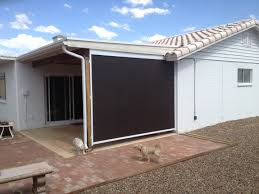 Retractable Awning With Screen Retractable Patio Drop Screens