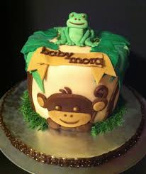 frog themed baby shower monkey and frog themed baby shower cake cakecentral