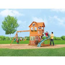 stonefield lodge gym set big backyard toys