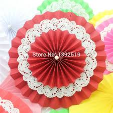 wedding paper fans aliexpress buy free shipping 100pcs 6 8 orange blue