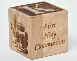 wooden personalized gifts holy communion personalized wood block communion gift