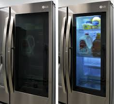 Glass Door Refrigerator Freezer For Home Is The Lg Instaview See Through Fridge The Future We Have The