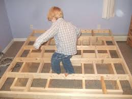 Woodworking Plans For Storage Beds by Best 25 Homemade Bed Frames Ideas On Pinterest Homemade Spare