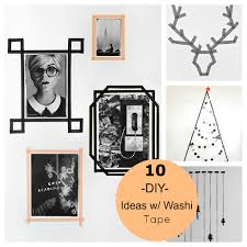 Washi Tape Wall by 10 Christmas U0026 Decor Diy Ideas With Washi Tape Love The Picture