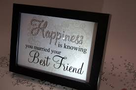 happiness is knowing you married best friend sparkle word art