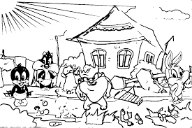 baby looney tunes coloring page wecoloringpage