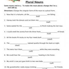 plural nouns worksheets have fun teaching
