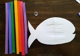 weaving rainbow fish kids craft crafty morning