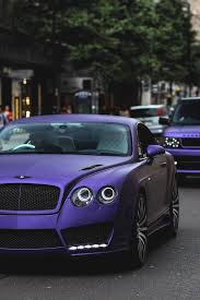 purple bentley mulsanne bentley continental gt find out more at www sportcarsblog com