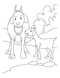 free coloring pages goats kid with mother goat coloring pages download free kid with