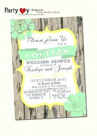 couples wedding shower invitations wedding couples shower invitations garden party bridal shower