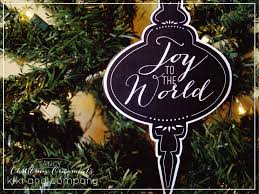 printable chalkboard look ornaments