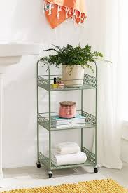 Bathroom Storage Cart Outfitters Langley Metal Rolling Storage Cart Bathroom