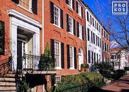 o street colonial rowhouses georgetown i fine art photo by