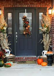Fall Decorating Ideas For Front Porch - beautiful fall decorations made with dried corn and corn stalks