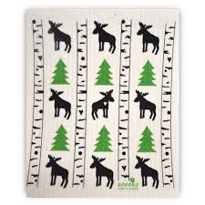 swedish dishcloth moose birch tree motif touch of finland