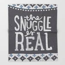 the snuggle is real throw blanket by jackofclubs society6