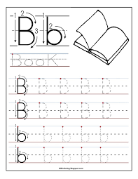 Kids Writing Worksheets Free Printable Worksheet Letter B For Your Child To Learn And