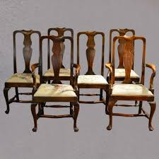 antique set of six dining chairs victorian u0027queen anne u0027 style