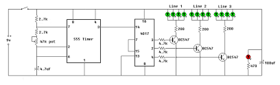 On Off Timer Circuit Diagram Led Chaser Circuit By Ic 4017 Ic 555 Eleccircuit Com