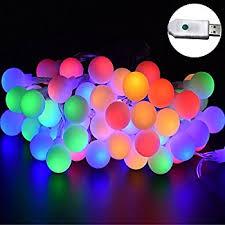 amazon com led globe string lights led warm white light for