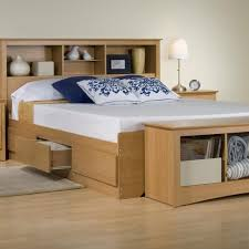 full size storage bed with bookcase headboard inspirations also