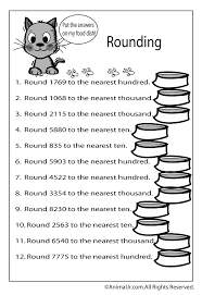 free rounding worksheets 4th grade math worksheets for woo jr activities