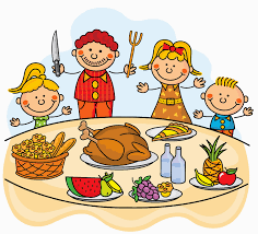Thanksgiving Dinner Table by Thanksgiving Dinner Family Clipart Clipartxtras