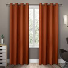 Orange Thermal Curtains Leslie Blackout Thermal Curtain Panels Products