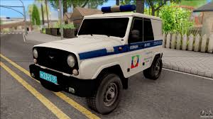 uaz hunter tuning uaz hunter police for gta san andreas