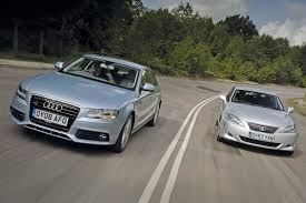 toyota lexus is 220d audi a4 vs lexus is auto express