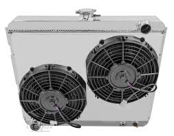 electric radiator fans and shrouds 1968 1975 mopar 22 wide core chion aluminum fan shroud fans
