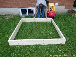 Build A Sandpit In Your Backyard Building A Sandbox Our Home Notebook