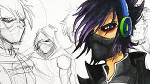 emo cyborg ninja character design session youtube
