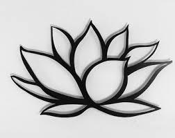 Home Decor Metal Wall Art Brushed Lotus Flower Metal Wall Art Lotus Metal Art Home