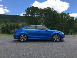 audi rs3 blue drive 2017 audi rs 3 ny daily
