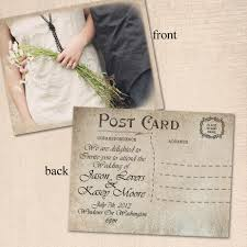 postcard wedding invitations lovely postcard vintage wedding invitations vintage wedding ideas